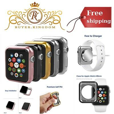 Apple Watch Case Cover 42 mm iWatch Protective Shell Bumper Face Plates Pack