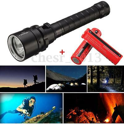 UK 15000Lm 3x T6 LED Diving Flashlight Torcia underwater subacquea +2x18650