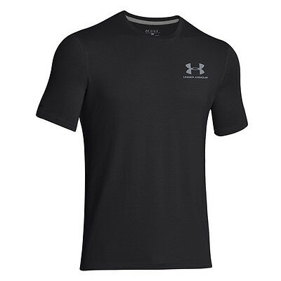 Under Armour Charged Cotton Sportstyle Left Chest Logo T-Shirt Black 1257616-001