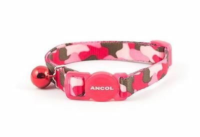 Ancol Camouflage Cat Collar Pink with Safety Buckle