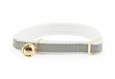 Ancol Reflective Cat Collar Silver Elasticated