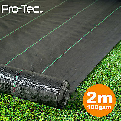 2m x 25m wide 100gsm weed control fabric ground cover membrane landscape garden