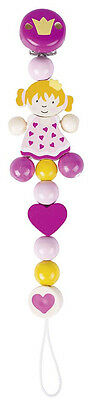 Heimess DUMMY CHAIN PRINCESS Baby/Nursery Wooden Pacifier Travel Toy Gift - BN