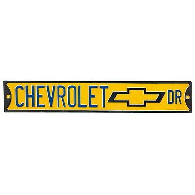 Chevrolet Drive Embossed Tin Street Sign Vintage Style 20 x 3