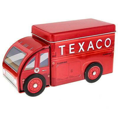 Texaco Truck Embossed Tin Storage Container Vintage Style Canister