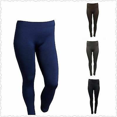 e03f639595ec2 Icon Apparel Women's Size M/L Blue Black Brown Grey Fleece Lined Leggings  NEW