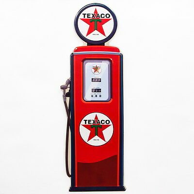 Texaco Globe Gas Pump Large Embossed Tin Sign Vintage Style Garage 11 x 32