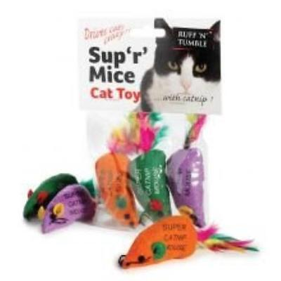 Ruff N Tumble Sup R Mice 3 Pieces Toy Game Kids Play Gift Pet Supplies Four Fab