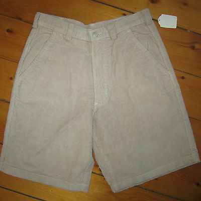vintage mens 30-32 NOS 1990s STUSSY Waffle Pattern Corduroy SHORTS made in USA