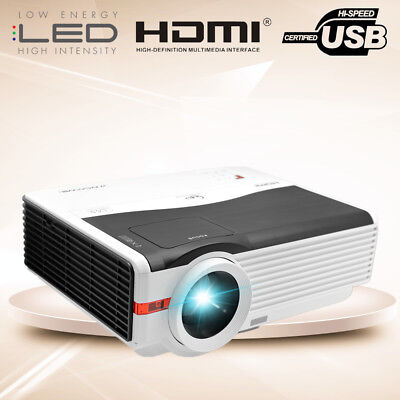 5000LMS LED LCD Projector 8000:1 Full HD Multimedia Home Theater USB HDMI 1080P