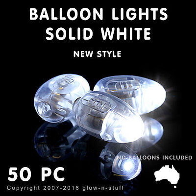 50 X Led New Style Solid White Balloon Lights Light Party Balloons Wedding Disco
