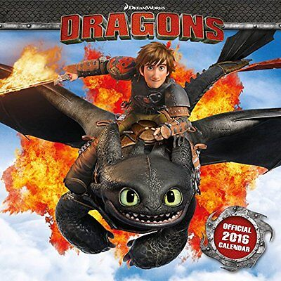 Official How To Train Your Dragon 2016 Square Wall Calendar (Movie By Dreamwork