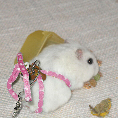 Rat Mouse Adjustable Harness with Lead Ferret Lead Hamster Pink