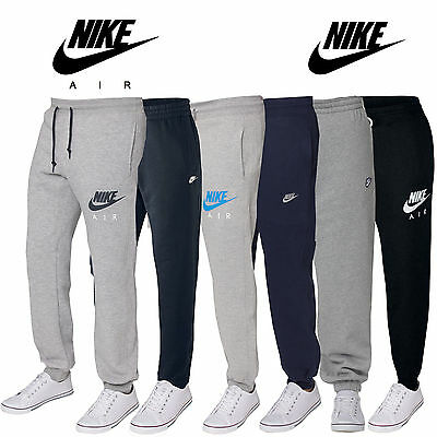 Nike Cuffed Fleece Joggers Gym Running Tracksuit Bottoms Pants Ankle Zip S-XL