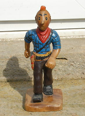 Wooden Hand Carved Standing Cowboy