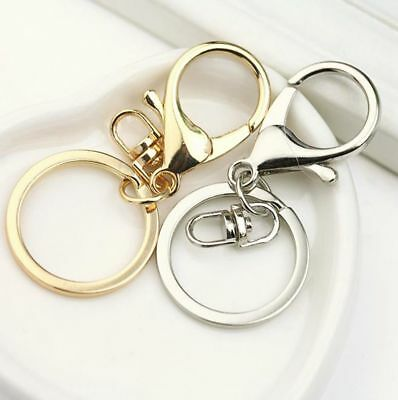 Metal Round Lobster Trigger Swivel Clasps Hook Clips Keychain Key Ring chain