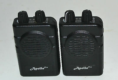 Lot of 2 Apollo VP200 pro v2.01  2 channel  UHF 460-470 MHz  stored voice pagers