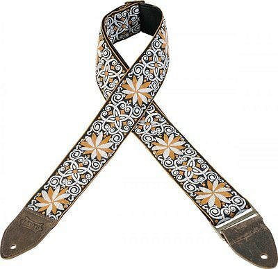"""Levy's Guitar Strap, M8HTV-13, 2"""" Jacquard Weave with Vintage Hootenanny Design"""