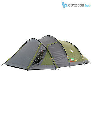 Coleman Tasman Tent 4 Man Person 2 Room Tunnel Tent Family Camping Quick Pitch