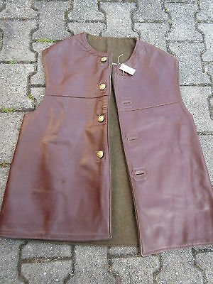 Jerkins Lederweste Horsehide Vest Military True Vintage Army Leather Jerkin #5