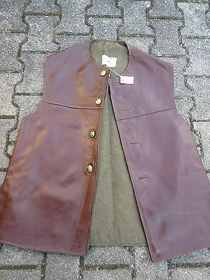 Jerkins Lederweste Horsehide Vest Military True Vintage Army Leather Jerkin #4