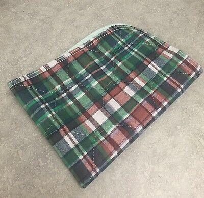 2-18x24 WASHABLE PLAID reusable Dog Puppy Training Wee Wee Pee Pads Underpads