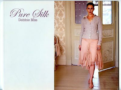 Pure Silk - Debbie Bliss Knitting Pattern Book - 12 Designs for Women