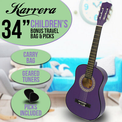 New Purple Childrens Acoustic Guitar Ideal Kids Gift