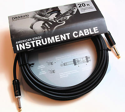 Planet Waves Pw-Amsg-20  American Stage 20' Instrument Cable, New, Free Us Ship