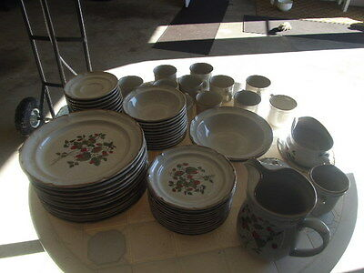 international sunmarc endura stoneware dish set  serving for 12 - 68 pcs.