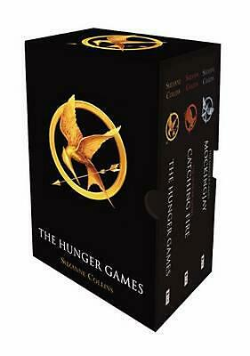 The Hunger Games Boxed Set by Suzanne Collins Paperback Book Free Shipping!