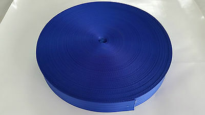 SEATBELT WEBBING 2mtr x 50mm ROYAL BLUE heat sealed each end  horse rugs,
