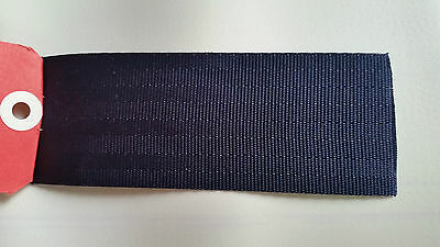 SEATBELT WEBBING 2mtr x 50mm BLACK  heat sealed each end  horse rugs,