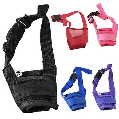 Comfortable Durable Pet Dog Muzzle Supply Mask Mouth Mesh Cage Stop Biting US