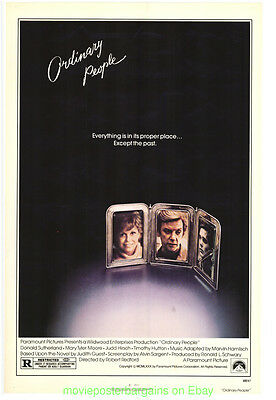 ORDINARY PEOPLE MOVIE POSTER Original 27x41 RARE ROLLED 1980 Best Picture Winner