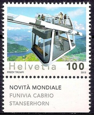 Switzerland 2012 Mountain Cable Car Tourism Transport 1v MNH