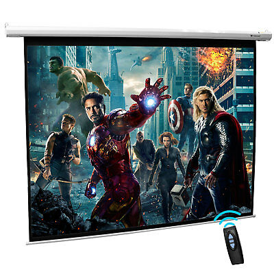 """120""""Inch Electric Motorised Projector Screen Home Theatre Office 16:9 4:3"""
