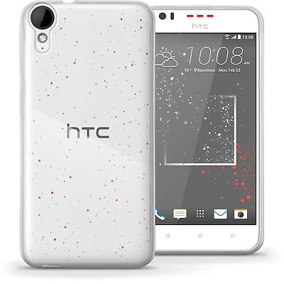 Glossy TPU Gel Case for HTC Desire 825 Protective Gel Skin Cover + Screen Prot