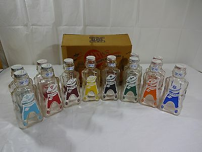 VINTAGE 12 GLASS BOTTLE Of GALAXY HOME SYRUPS
