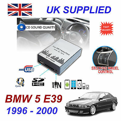 BMW 5 E39 96-00 MP3 SD USB CD AUX Input Audio Adapter Digital CD Changer Module