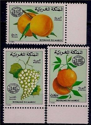 Morocco 1978 Fruits Grapes Apricots Oranges Food Crops Farming Postage due MNH