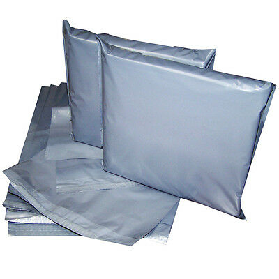 12x16' Strong Grey Mailing Post Poly Postage Bags Self Seal Cheap No Smell CS