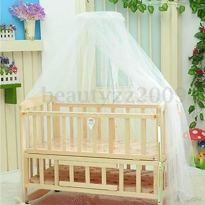 Round Dome Baby Bed Mosquito Canopy Curtain Netting for Toddler Crib Cot Canopy