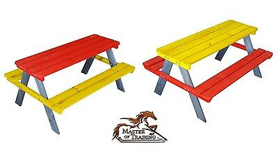 """Stunning """"jung"""" Colorful Garden Picnic Pine Bench 4 Children 2 Colors  Bargain !"""