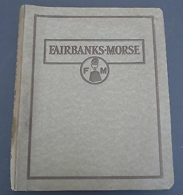 Vintage 1920s Fairbanks Morse Catalog Bulletins AC Motors Steam & Power Pumps