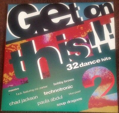 GET ON THIS! - V/A - 32 Dance Hits - Double Vinyl LP 1990 Telstar2424