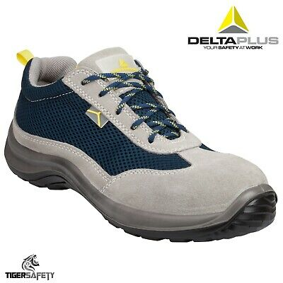 385812a9ec93 Delta Plus Panoply Asti S1P SRC Grey Suede Composite Toe Cap Safety  Trainers PPE