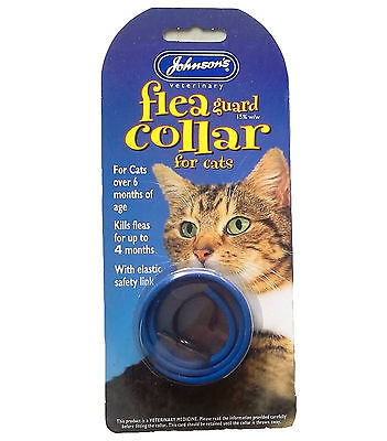 Johnsons Waterproof Cat Flea Collar - Colour Varies - Pack of 2 • EUR 6,59