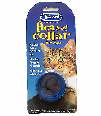 Johnsons Waterproof Cat Flea Collar - Colour Varies - Pack of 3