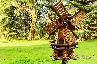 Traditional Wooden Windmill Garden/Ornament  Free Delivery
